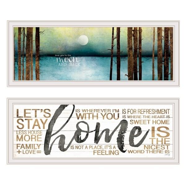 "V558-226G ""Love / Home"" 2-Piece Vignette by Marla Rae, White Frame"