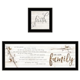 """We are Family"" 2-Piece Vignette by Marla Rae, Black Frame"