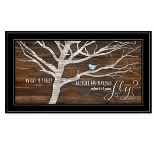 """""""What if You Fly"""" by Marla Rae, Ready to Hang Framed Print, Black Frame"""