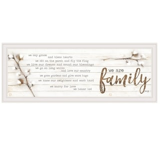 """We are Family"" by Marla Rae, Ready to Hang Framed print, White Frame"