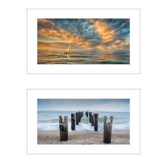 """Beautiful Seascapes I"" 2-Piece Vignette by Michael Petrizzo, White Frame"