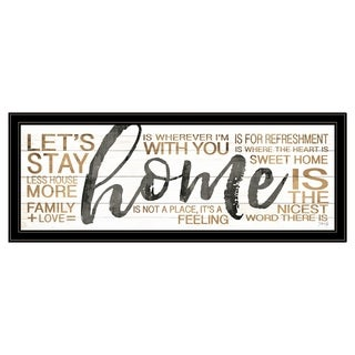 """""""Home"""" by Marla Rae, Ready to Hang Framed Print, Black Frame"""
