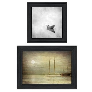 """Misty Seascapes"" 2-Piece Vignette by Michael Petrizzo, Black Frame"