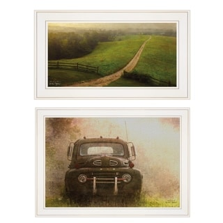 """""""The Long Drive Home"""" 2-Piece Vignette by Ron Jones, White Frame"""