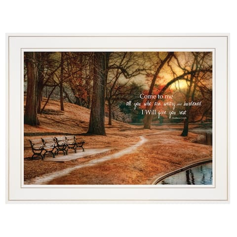 """I Will Give You Rest"" by Robin-Lee Vieira, Ready to Hang Framed print, White Frame"