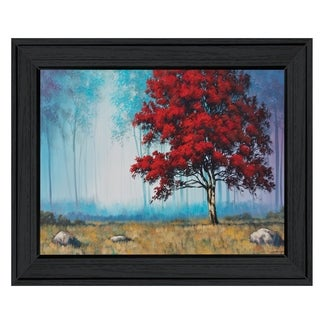 """""""Red Tree"""" by Tim Gagnon, Ready to Hang Framed Print, Black Frame"""