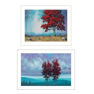 """""""Red Trees""""  2-Piece Vignette by Tim Gagnon, White Frame"""