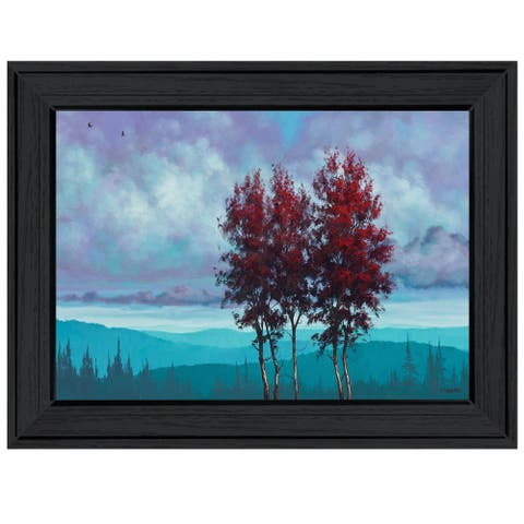 """""""Two Red Trees"""" by Tim Gagnon, Ready to Hang Framed Print, Black Frame"""