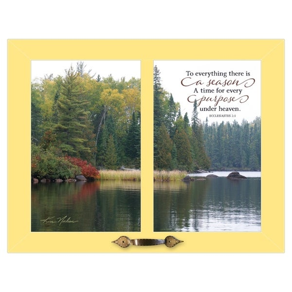 """""""To Everything"""" by Kim Norlien, Ready to Hang Framed Print, Yellow Frame"""