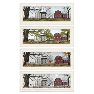 """""""Four Seasons Collection II"""" 4-Piece Vignette by Billy Jacobs, White Frame"""
