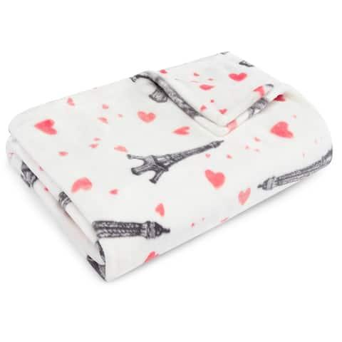 Betsey Johnson Paris Love Ultra Soft Plush Throw
