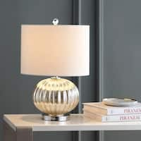 """Judith 21"""" Mercury Glass LED Table Lamp, Silver/Ivory by JONATHAN  Y"""