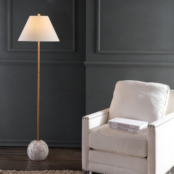 """Shop Miami 63.5"""" Minimalist Resin/Metal LED Floor Lamp ..."""