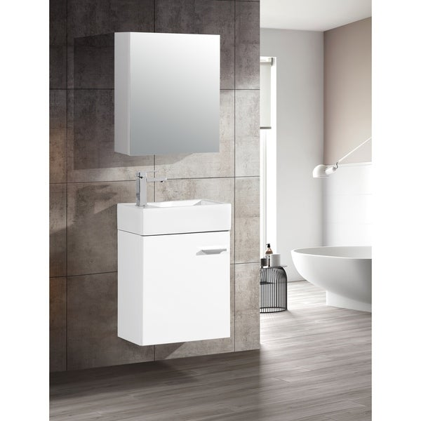 "Swiss Madison Colmer 18"" Single, One Cabinet, Bathroom Vanity"