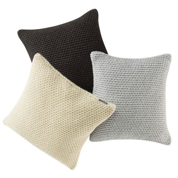 Shop Vera Wang Heather Knit Throw Pillows Free Shipping
