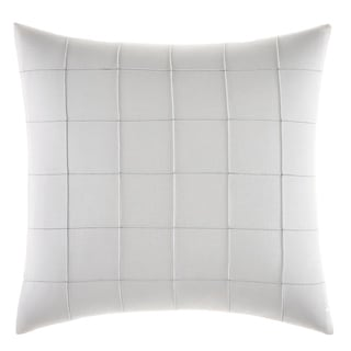 Vera Wang Shibori Grid White 18x18 Throw Pillow
