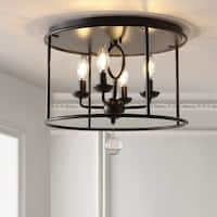 "Alma 16"" Metal LED Flush Mount, Oil Rubbed Bronze by JONATHAN  Y"