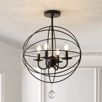 "Alma 12"" Metal LED Flush Mount, Oil Rubbed Bronze by JONATHAN  Y"