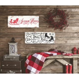Link to 2 Piece Vintage Christmas Signs - distressed white/red/black - 9 x 24 Similar Items in Decorative Accessories