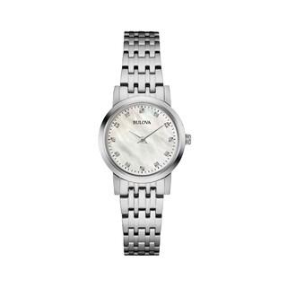 Bulova Women's 96P175 Diamond Gallery Stainless Bracelet Watch - Silver-Tone