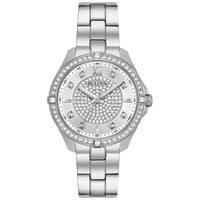 Bulova Women's 96L236 Crystal Accent Stainless Bracelet Watch - Silver-Tone
