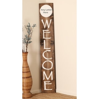Front Porch WELCOME Sign with Custom Initial - 72 x 11.5