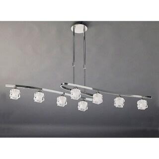 Mantra Lighting Clear/Chrome Metal 8-light Chandelier