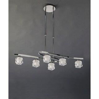 Mantra Lighting Ice 1841 Chrome Metal/Crystal Chandelier