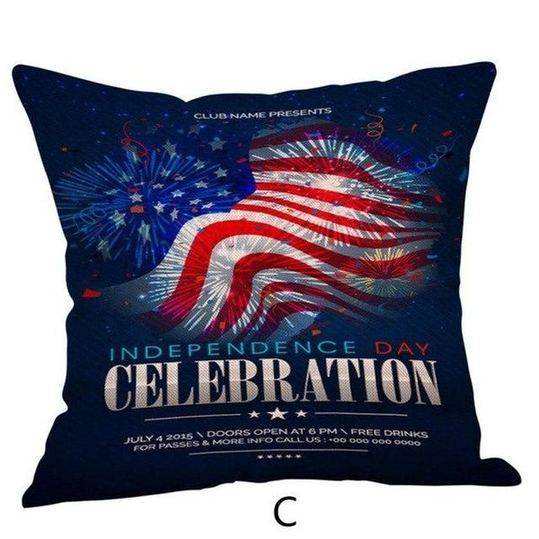 Happy Independence Day Pillow Cases-A53