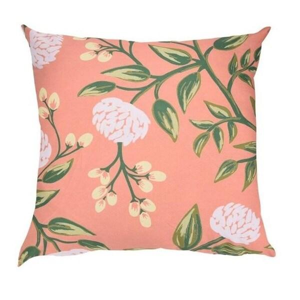 Flower Print Pillow Case Polyester Sofa Car Cushion Cover-A121