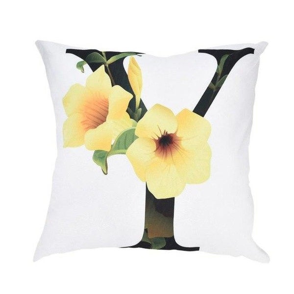 Alphabet Print Pillow Case Polyester Sofa Car Cushion Cover-A99