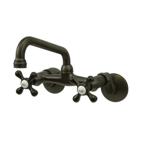 Wall-Mount Two-Handle Oil-Rubbed Bronze Kitchen Faucet