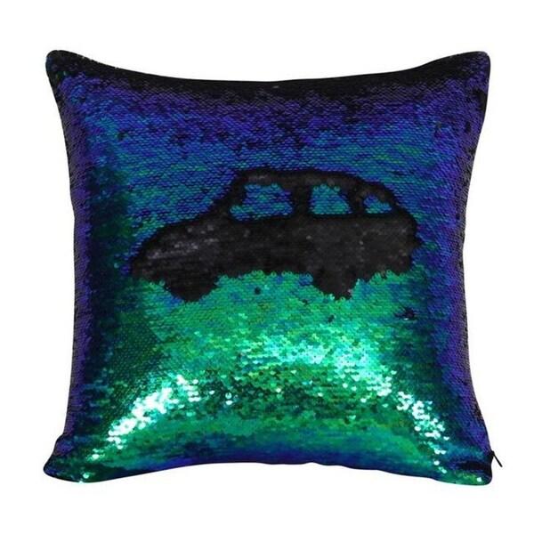 Two color Change Magic Sequin Fabric Sofa Cushion-A79
