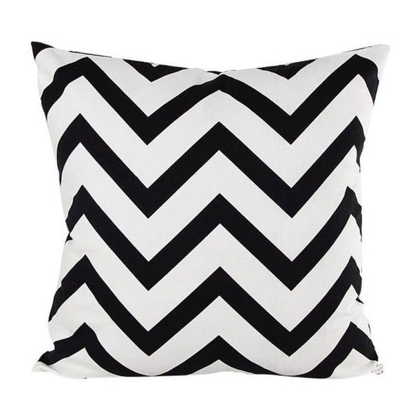 Wavy Striped Pillowcase With Hidden Zip Closure-A157