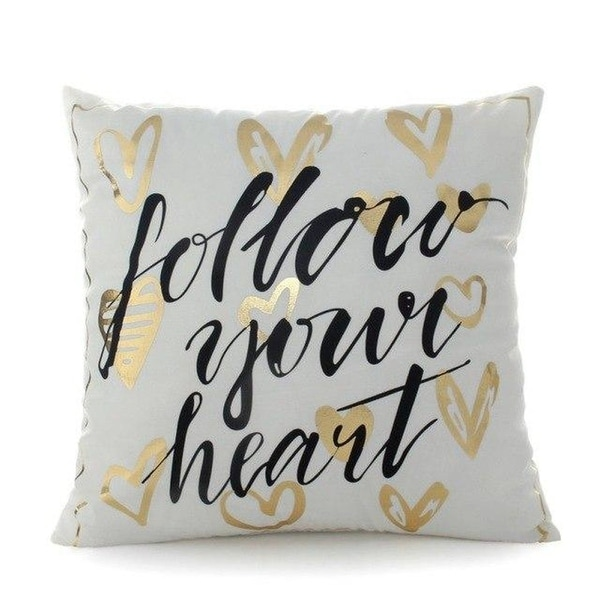 "Printing Stamping Pillow Cover ""Queen King""-A48"