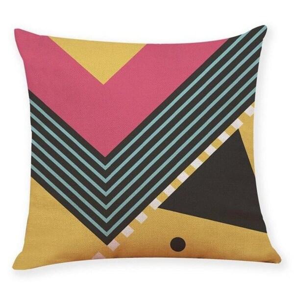 Linen Blend Memphis Style Sofa Throw Pillowcase-A163