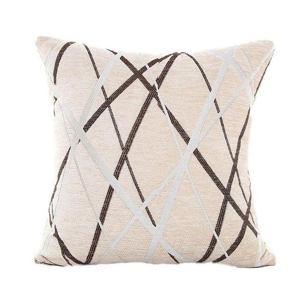 Stylish Simplicity Polyester Cushion Cover-A237