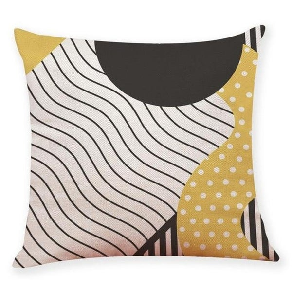 Linen Blend Memphis Style Sofa Throw Pillowcase-A164