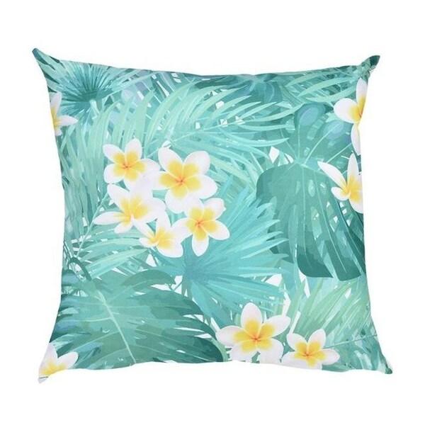 Flower Print Pillow Case Polyester Sofa Car Cushion Cover-A122