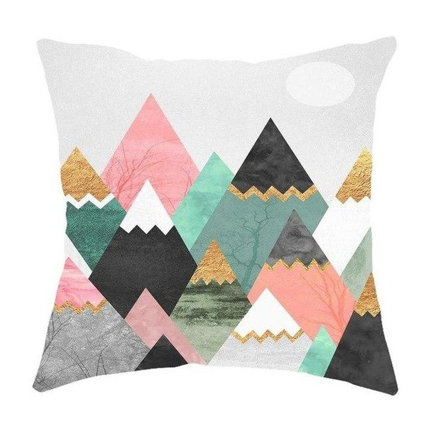Geometric Pillow Case Waist Cushion Cover Sofa Home Décor-A253