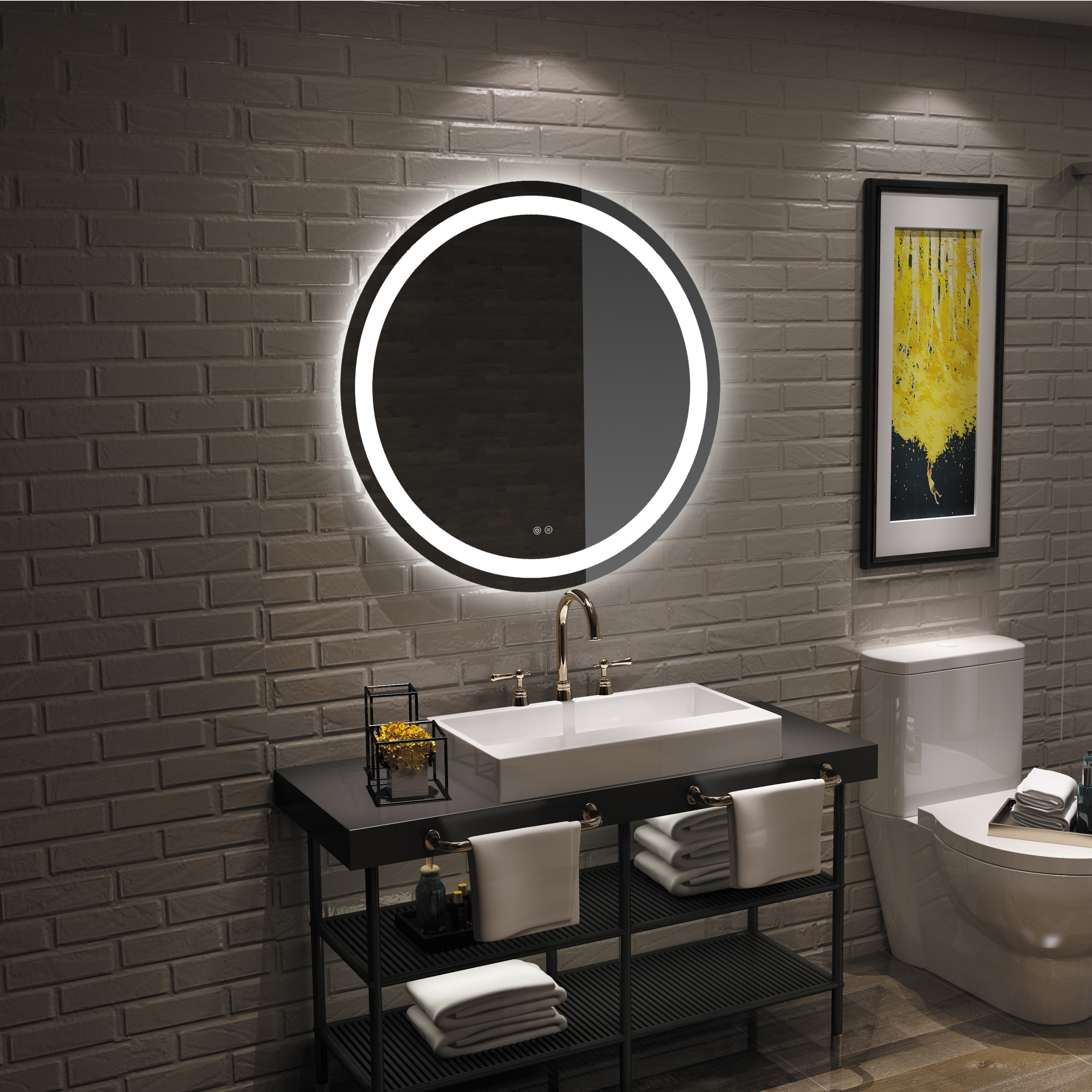 Frameless Wall Mounted Led Bathroom Mirror Colorless Overstock 25435166