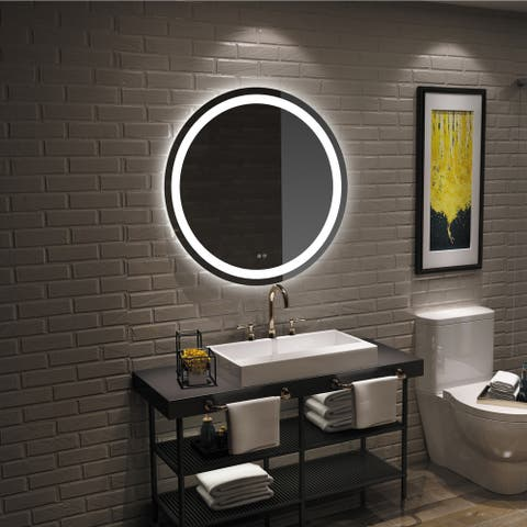 Frameless Wall Mounted LED Bathroom Mirror - Colorless