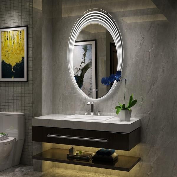 Shop Frameless Wall Mounted Led Bathroom Mirror Free
