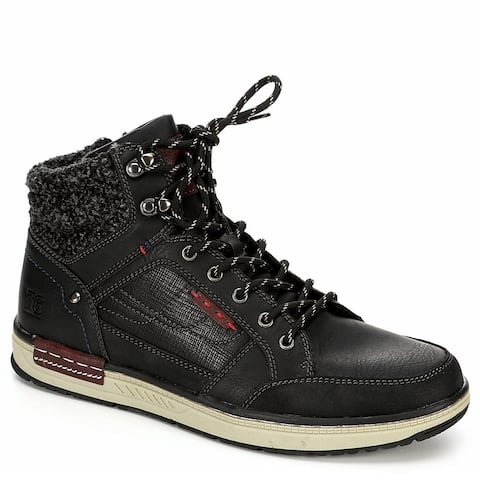 Day Five Mens Lace Up Mid Cut Sneaker Boot Shoes