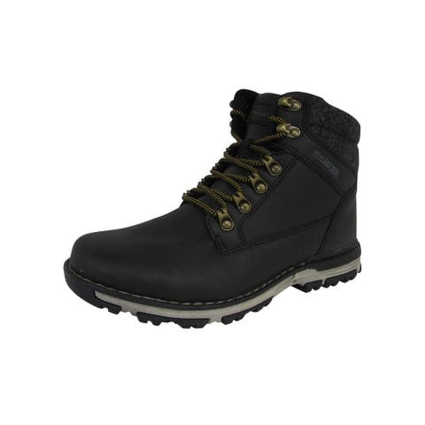 Highland Creek Mens Fleece Lined Lace Up Mid Cut Boot Shoes