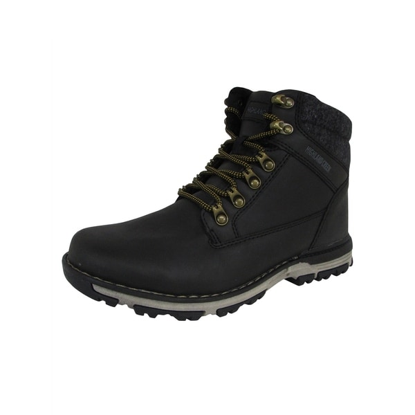 Highland Creek Mens Fleece Lined Lace Up Mid Cut Boot Shoes. Opens flyout.