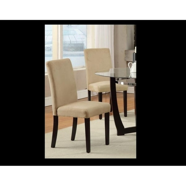 Beaver Saddle Microfiber Parson Chair