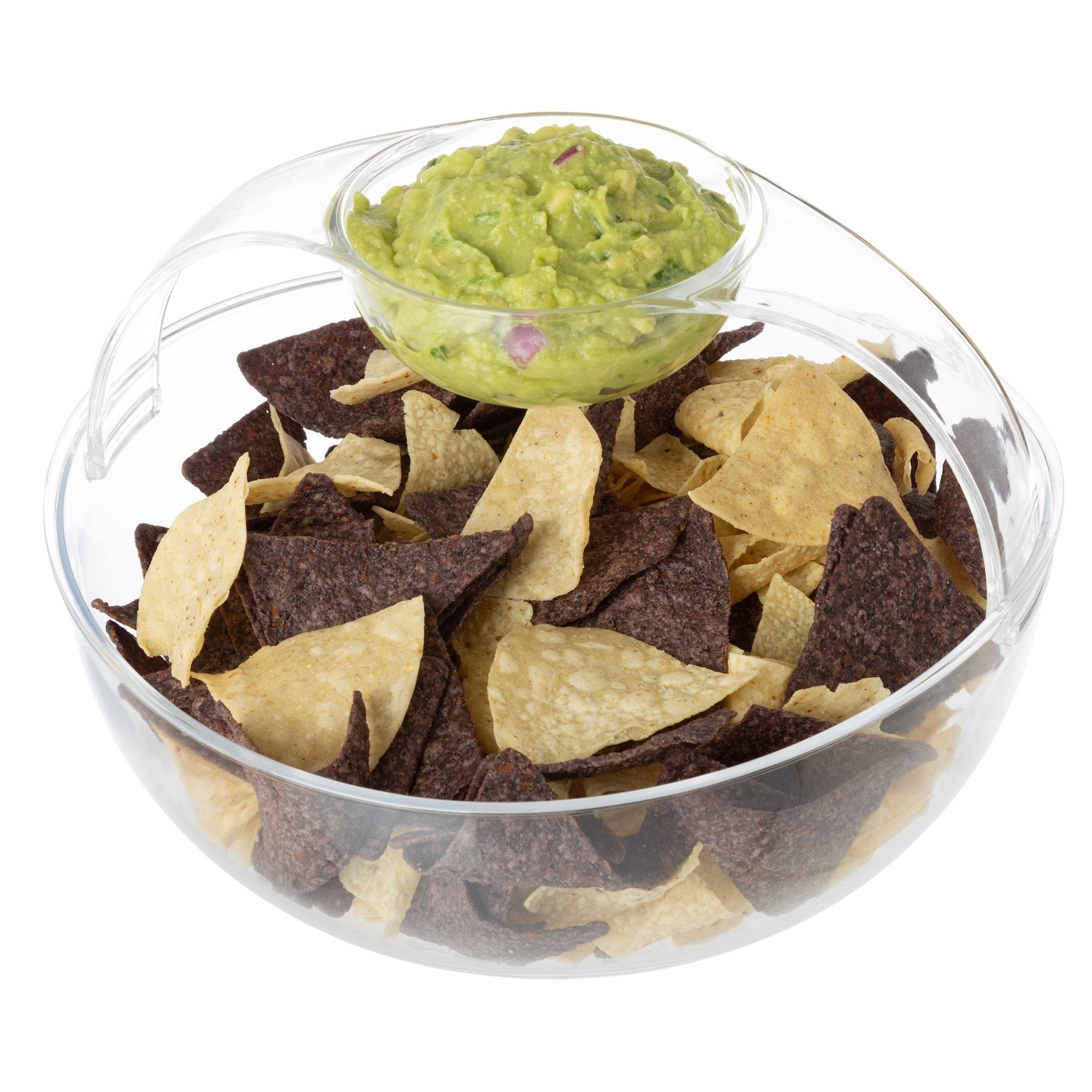 4 PC Plastic Salsa Bowl Set Mexican Chips Guacamole Dips Bowls Serving BPA FREE