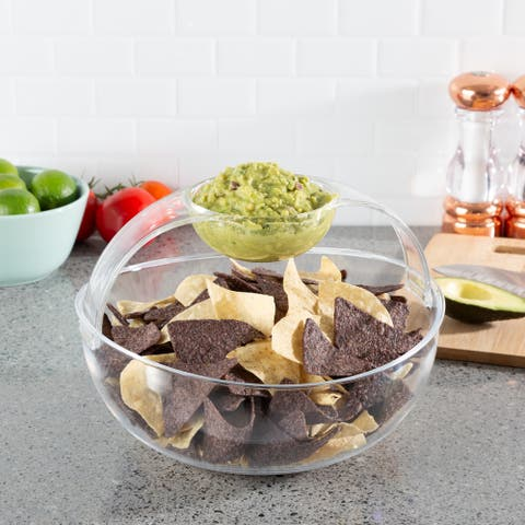 Chip and Dip Bowl-Serving Set for Chips, Salsa, Fruit, Dips and More by Classic Cuisine