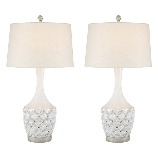 Seahaven Transitional Coastal Table Lamp Antique White On Free Shipping Today 25435539